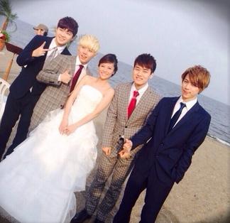 神戸蘭子 青島で結婚式!