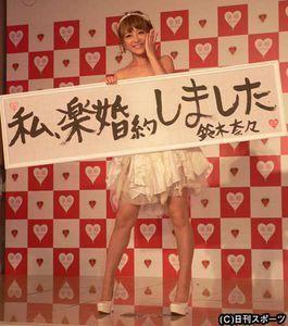鈴木奈々婚約しました